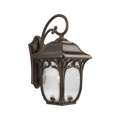 Progress Lighting Progress Outdoor Wall Light with Clear Glass in Espresso Finish P5996-84