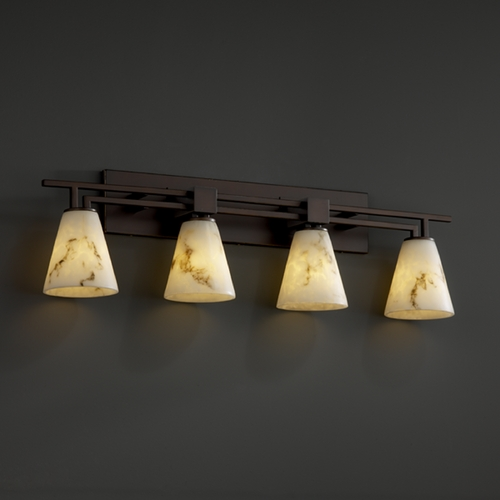 Justice Design Group Justice Design Group Lumenaria Collection Bathroom Light FAL-8704-50-DBRZ
