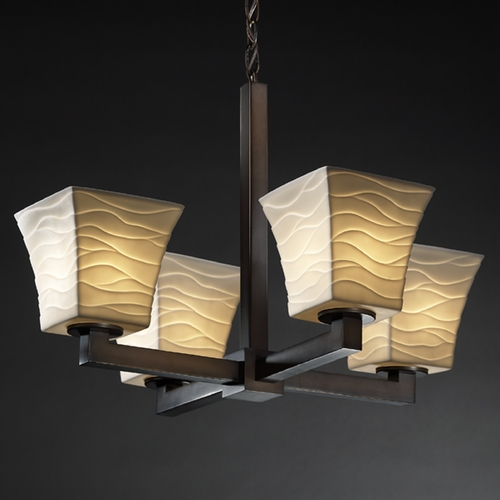 Justice Design Group Justice Design Group Limoges Collection Chandelier POR-8829-40-WAVE-DBRZ