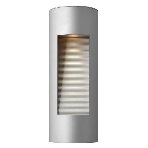 Hinkley Modern Outdoor Wall Light with Etched in Titanium Finish 1660TT