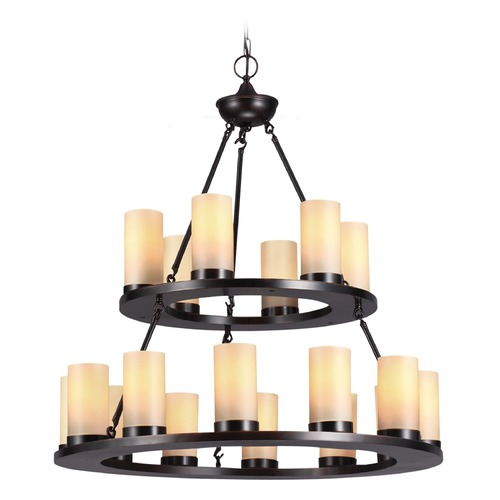 Sea Gull Lighting Sea Gull Lighting Ellington Burnt Sienna Chandelier 31585-710