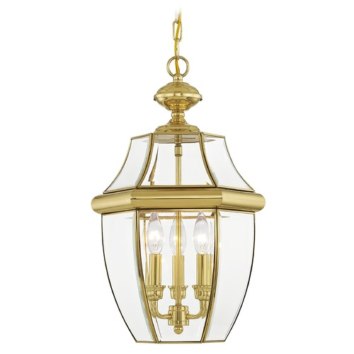 Livex Lighting Livex Lighting Monterey Polished Brass Outdoor Hanging Light 2355-02