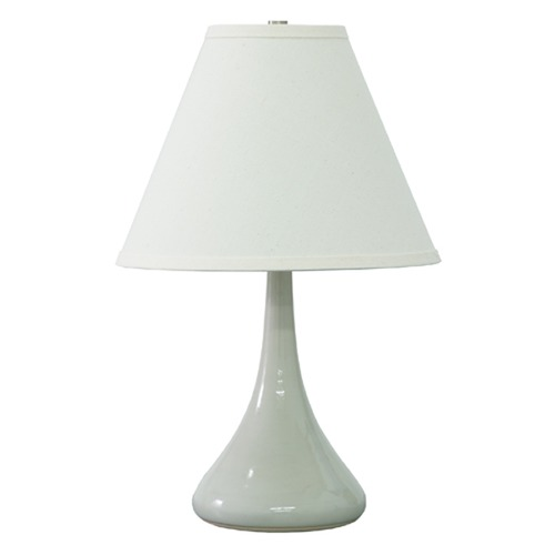 House of Troy Lighting House of Troy Scatchard Gray Gloss Table Lamp with Conical Shade GS802-GG