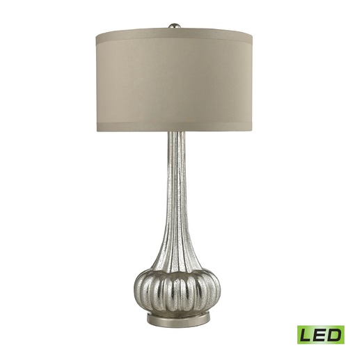Dimond Lighting Dimond Lighting Antique Mercury, Polished Chrome LED Table Lamp with Drum Shade D2572-LED