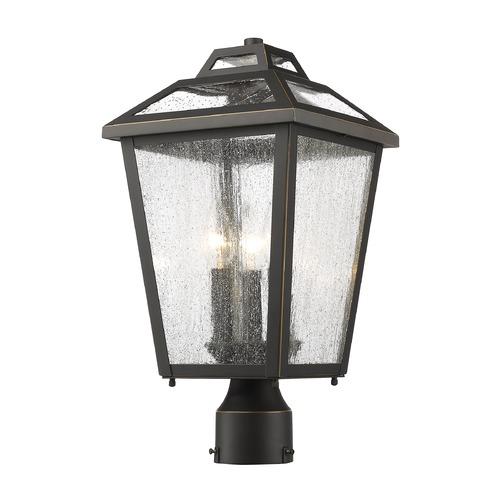 Z-Lite Z-Lite Bayland Oil Rubbed Bronze Post Light 539PHMR-ORB