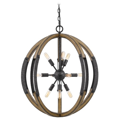 Quoizel Lighting Quoizel Lighting Babaton Old Black Pendant Light QOP5181OK