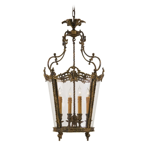 Metropolitan Lighting Pendant Light with Clear Glass in Antique Bronze Patina Finish N851204-OXB