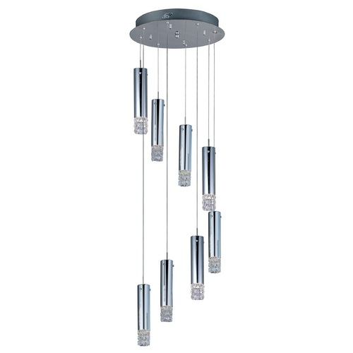 ET2 Lighting Modern Low Voltage Multi-Light Pendant Light with Clear Glass and 8-Lights E23244-20PC