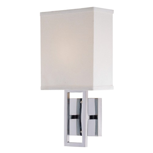 Lite Source Lighting Lite Source Prisca Chrome Wall Lamp LS-16585C/WHT