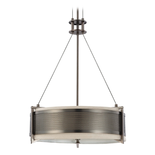 Nuvo Lighting Modern Drum Pendant Lights in Hazel Bronze Finish 60/4433