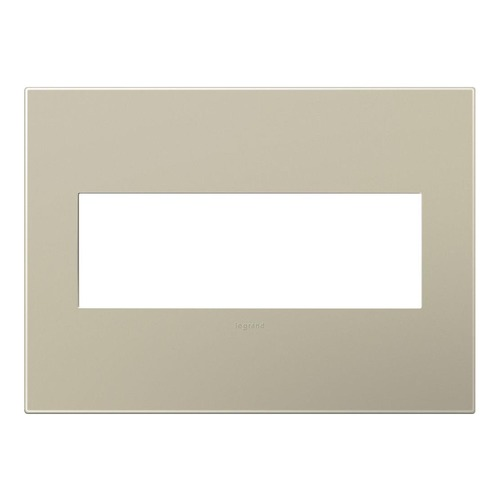 Legrand Adorne Three-Gang Wall Switch Plate Cover in Titanium Finish AWP3GTM4