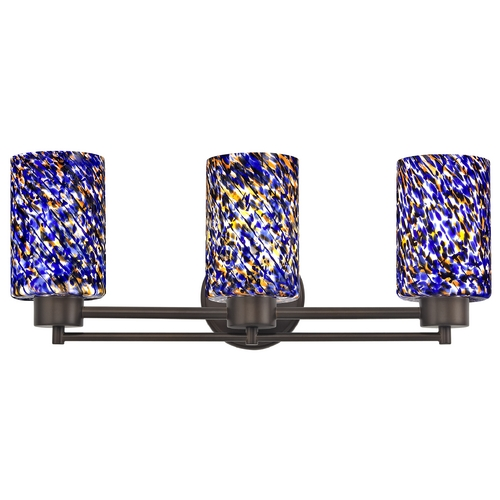 Design Classics Lighting Modern Bathroom Light in Neuvelle Bronze Finish 703-220 GL1009C