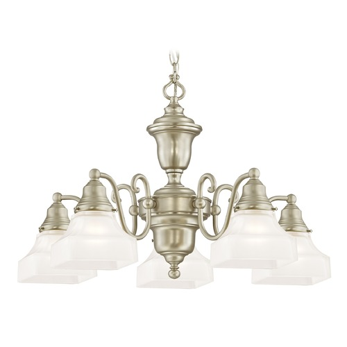 Design Classics Lighting Design Classics Holt Satin Nickel Chandelier 205-09 G9415