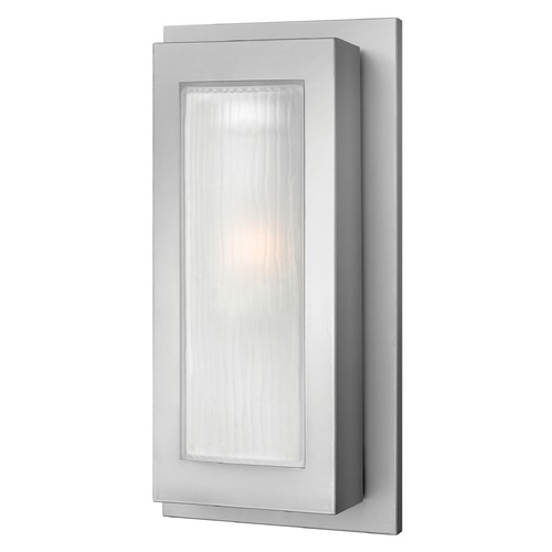 Hinkley Lighting Modern Outdoor Wall Light with White Glass in Titanium Finish 2054TT