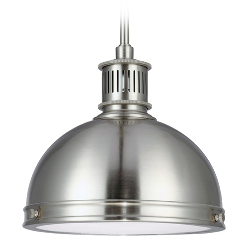 Sea Gull Lighting Sea Gull Lighting Pratt Street Metal Brushed Nickel Mini-Pendant Light 65085-962