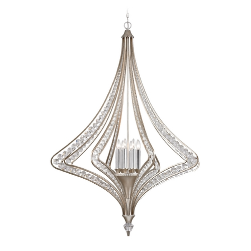 Elk Lighting Crystal Pendant Light in Satin Silver Finish 46063/8