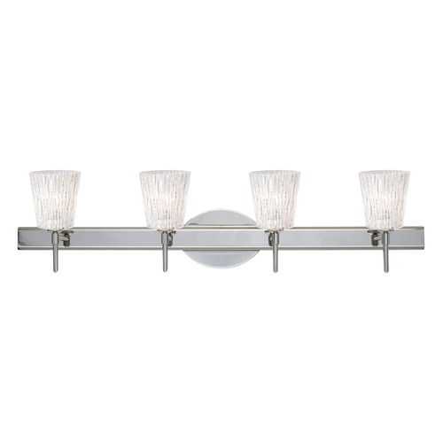 Besa Lighting Besa Lighting Nico Chrome Bathroom Light 4SW-5125GL-CR