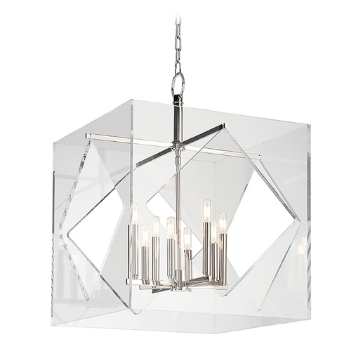 Hudson Valley Lighting Hudson Valley Lighting Travis Polished Nickel Pendant Light with Square Shade 5924-PN