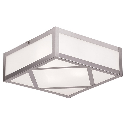 Livex Lighting Livex Lighting Viper Brushed Nickel Flushmount Light 7133-91