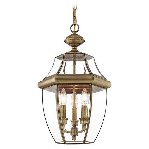 Livex Lighting Livex Lighting Monterey Antique Brass Outdoor Hanging Light 2355-01