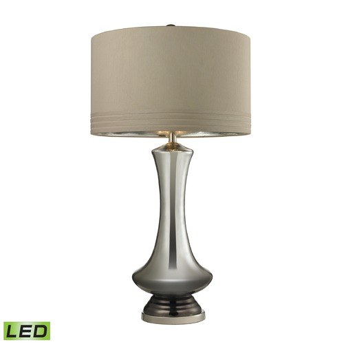 Dimond Lighting Dimond Lighting Silver Mercury, Bronze, Polished Nickel LED Table Lamp with Drum Shade D2574-LED