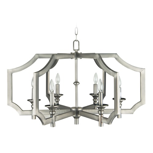 Jeremiah Lighting Jeremiah Lighting Lisbon Antique Nickel Chandelier 37316-AN