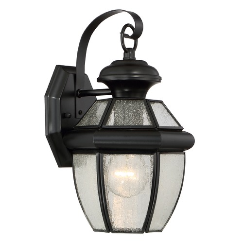 Quoizel Lighting Quoizel Newbury Mystic Black Outdoor Wall Light NY8407KFL