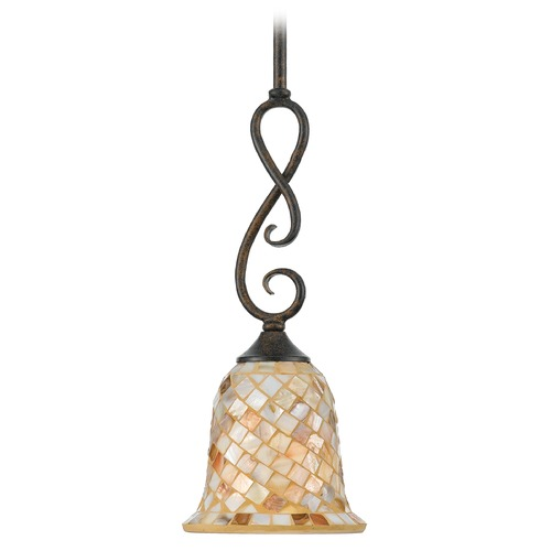 Quoizel Lighting Mini-Pendant Light with Multi-Color Glass MY1506ML