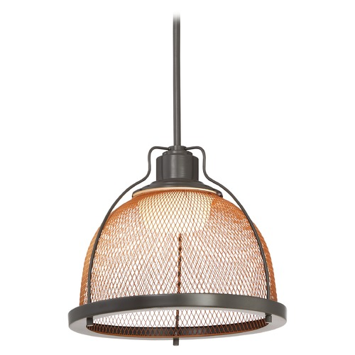 Nuvo Lighting Nuvo Lighting Tex LED Dark Bronze LED Pendant Light with Bowl / Dome Shade 62-887