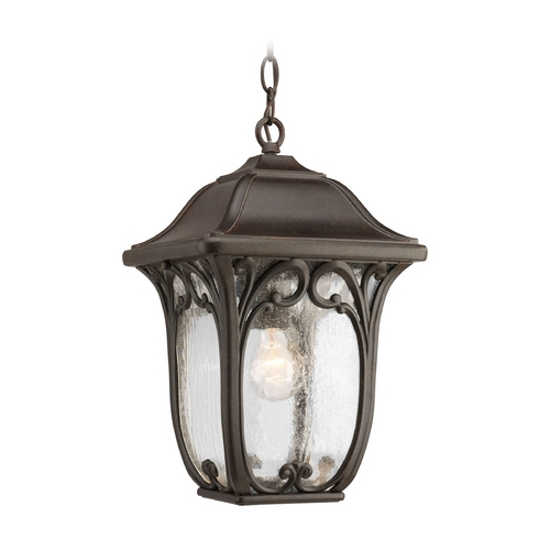 Progress Lighting Progress Outdoor Hanging Light with Clear Glass in Espresso Finish P6501-84