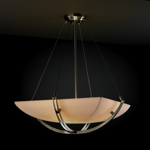 Justice Design Group Justice Design Group Porcelina Collection Pendant Light PNA-9722-25-SMTH-NCKL