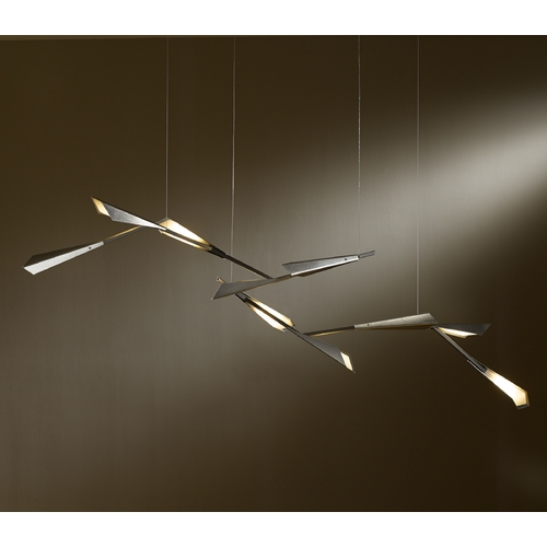 Hubbardton Forge Lighting Hubbardton Forge Lighting Quill Vintage Platinum LED Pendant Light 135001-LED-STND-82