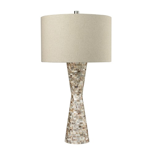 Dimond Lighting Dimond Lighting Natural Mother Of Pearl Shell Table Lamp with Drum Shade D2607