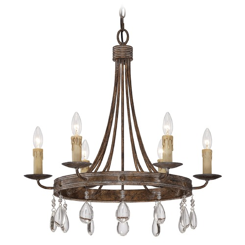 Savoy House Savoy House Bronze Patina Crystal Chandelier 1-200-6-15
