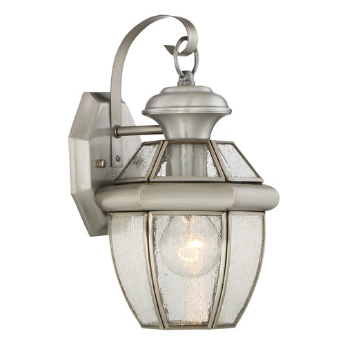 Quoizel Lighting Quoizel Newbury Pewter Outdoor Wall Light NY8407P