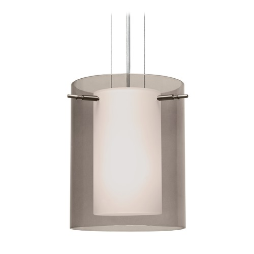 Besa Lighting Besa Lighting Pahu Satin Nickel LED Mini-Pendant Light 1KG-S00607-LED-SN