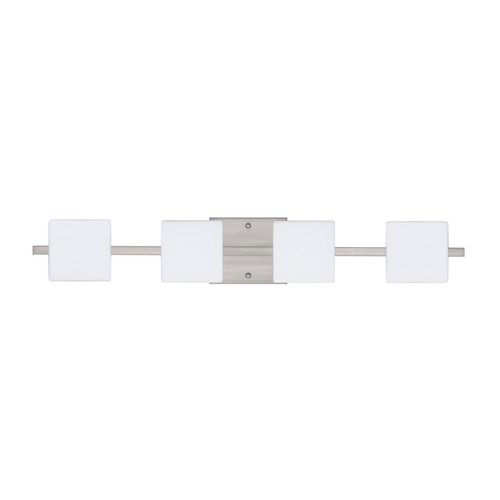 Besa Lighting Besa Lighting Alex Satin Nickel LED Bathroom Light 4WS-773507-LED-SN