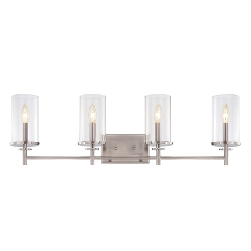 Designers Fountain Lighting Designers Fountain Harlowe Satin Platinum Bathroom Light 87204-SP