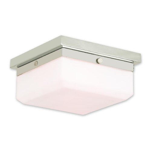 Livex Lighting Livex Lighting Allure Polished Nickel Flushmount Light 65536-35