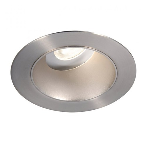 WAC Lighting WAC Lighting Round Brushed Nickel 3.5-Inch LED Recessed Trim 2700K 990LM 18 Degree HR3LEDT318PS927BN