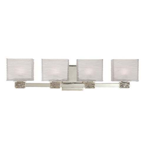 Hudson Valley Lighting Modern Bathroom Light with White Glass in Satin Nickel Finish 4664-SN