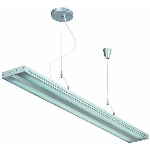 Lite Source Lighting Lite Source Lighting Giada Silver Pendant Light with Rectangle Shade LS-19689SILV
