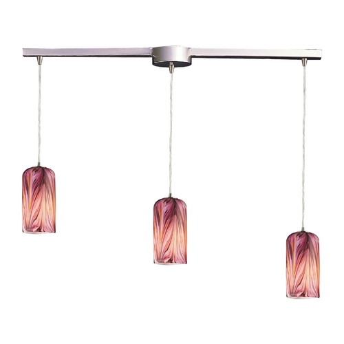 Elk Lighting Modern Multi-Light Pendant Light with Multi-Color Glass and 3-Lights 544-3L-MR