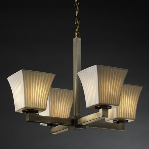 Justice Design Group Justice Design Group Limoges Collection Chandelier POR-8829-40-WFAL-ABRS