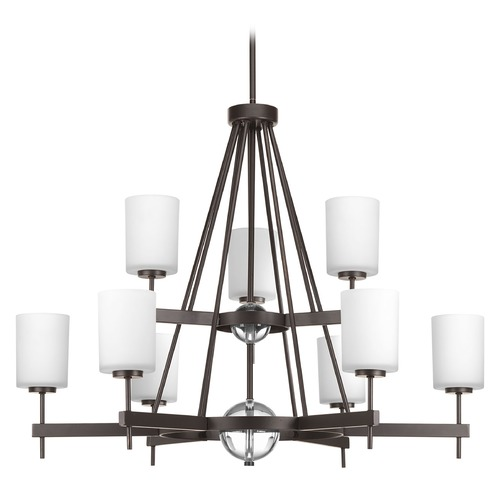 Progress Lighting Contemporary / Modern Chandelier Bronze Compass by Progress Lighting P4707-20