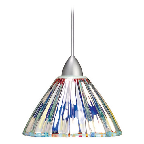 WAC Lighting Wac Lighting European Collection Brushed Nickel LED Mini-Pendant with Conical Shade MP-LED518-DIC/BN