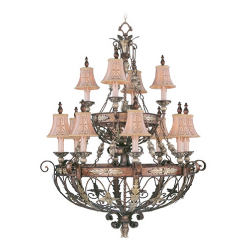 Livex Lighting Livex Lighting Pomplano Palacial Bronze with Gilded Accents Chandelier 8848-64