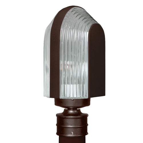 Besa Lighting Ribbed Glass Post Light Bronze Costaluz by Besa Lighting 313998-POST