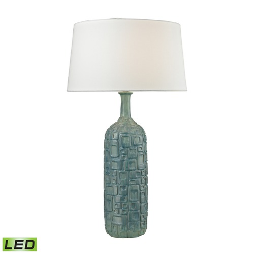 Dimond Lighting Dimond Lighting Blue, White Wash Glaze LED Table Lamp with Empire Shade D2612B-LED