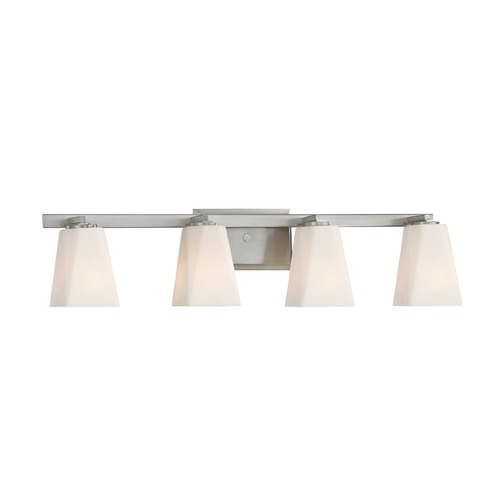 Designers Fountain Lighting Designers Fountain Cornerstone Satin Platinum Bathroom Light 88304-SP